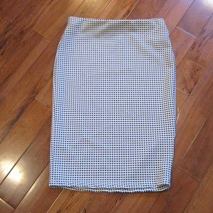 forever 21 black white check pencil skirl large